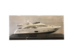 Model of Azimut Yacht in Acrylic Case