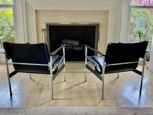 Pair Of 196O Charles Pollock Sling Lounge Chairs For Knoll