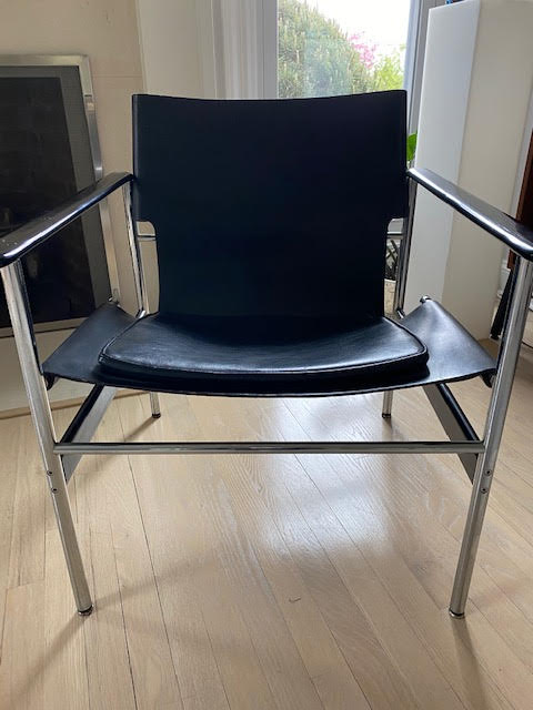 Pair Of 196O Charles Pollock Sling Lounge Chairs For Knoll Single Chair