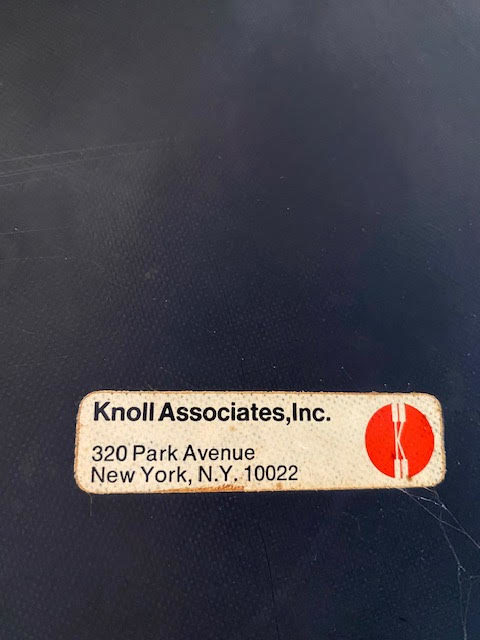 Pair Of 196O Charles Pollock Sling Lounge Chairs For Knoll Logo