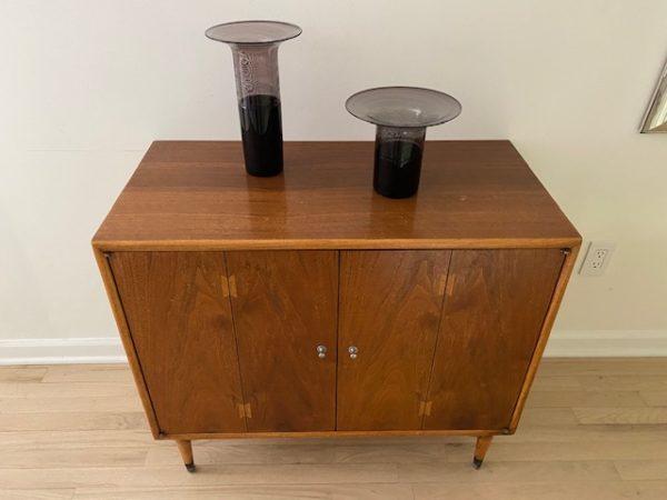 Modern Walnut Console Cabinet